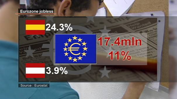 Eurozone job gloom grows