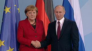 Merkel, Putin urge 'political solution' for Syria