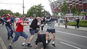 Polish and Russian fans clash ahead of Euro 2012 match