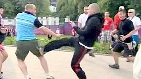 Violence flares in Warsaw at Euro 2012 clash