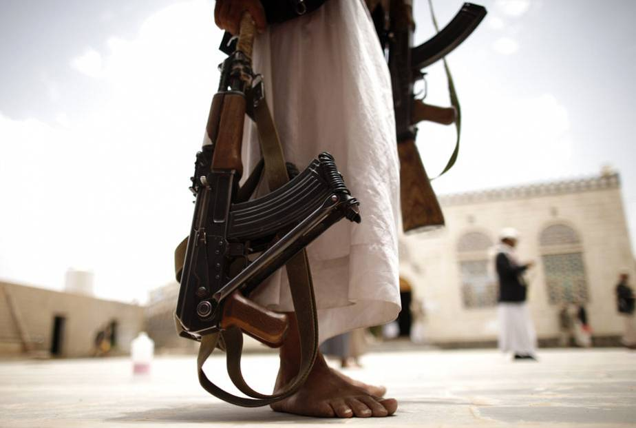 Firearms at a tribal gathering in Yemen