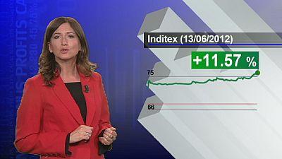 Inditex supera a Teléfonica en la bolsa española