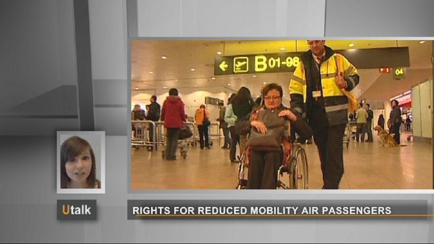 Direitos dos portadores de deficiência, en viagens de avião