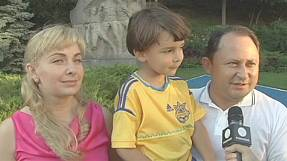 EURO 2012: Ukraine's celebration Kid