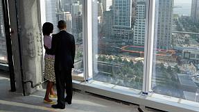 Obama visits 'One World Trade Centre' in New York