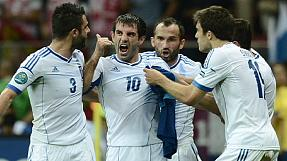 EURO 2012: Greece stun Russia to book euro2012 quarter-final spot