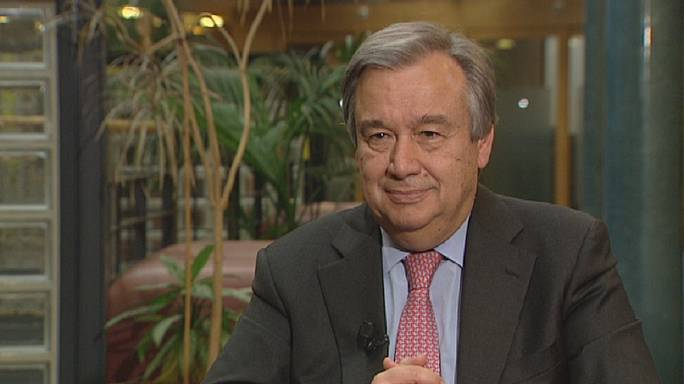 "António Guterres: ""we're witnessing human suffering on an epic scale"""