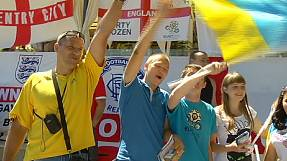 Officials play down tensions between England and Ukrainian fans