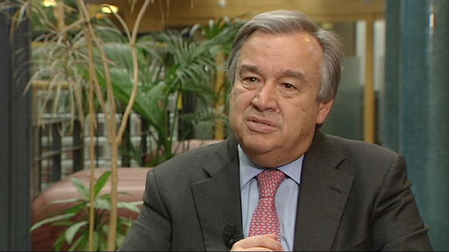 """António Guterres: """"we're witnessing human suffering on an epic scale"""""""