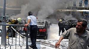 Damascus central court hit by bomb