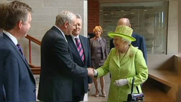 Queen and McGuinness historical handshake