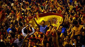 Spain celebrates historic Euro 2012 football win