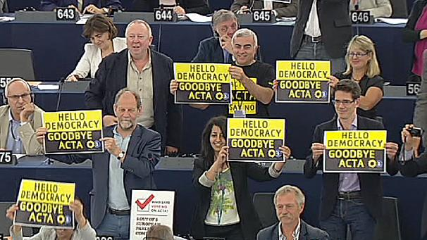 EU parliament rejects ACTA