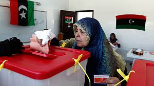 Polling station violence mars historic Libya election