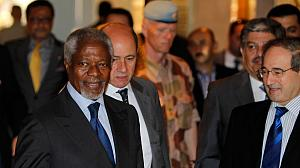 Annan arrives in Damascus in bid to save peace plan