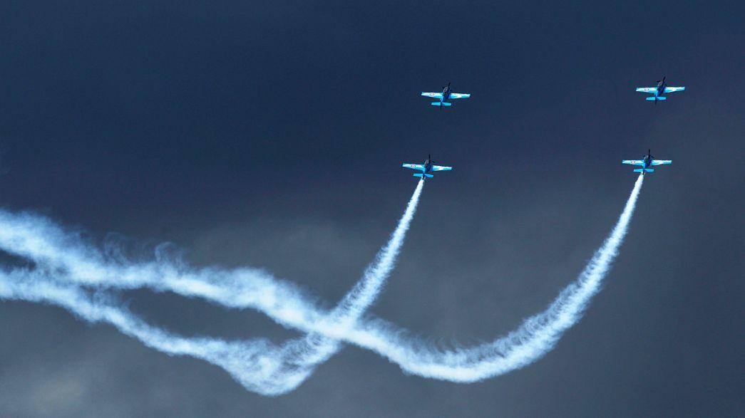 Airbus y Boeing miden sus fuerzas en los cielos de Farnbourough