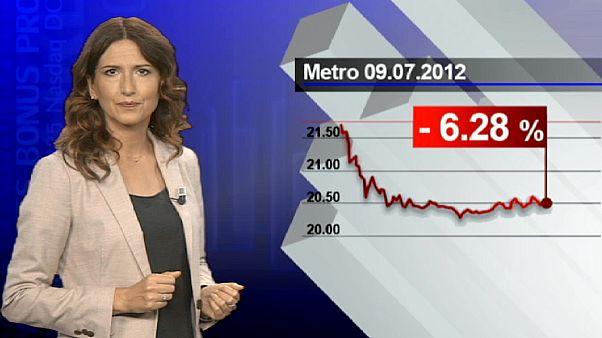 Metro in calo del 6%