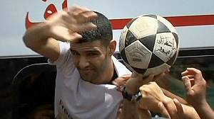Palestinian footballer freed by Israel