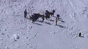 Search for missing climbers after deadly Alpine avalanche