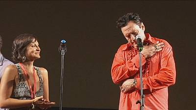 Michael Madsen and Peter Greenaway at the Odessa International Film Festival