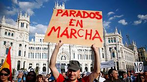 Jobless Spaniards demonstrate in Madrid