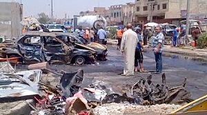 مقتل مئة وسبعة أشخاص واصابة ثلاثمائة آخرين في سلسلة انفجارات في العراق