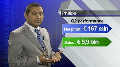 Philips échappe au lundi chaotique des marchés boursiers européens