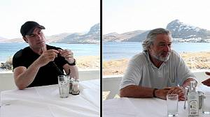 From Grease to Greece: Travolta and De Niro on holiday