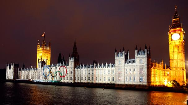 Olympics light up London
