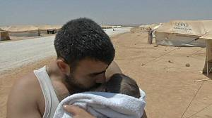 Syrian refugees tell of life inside Jordanian camp