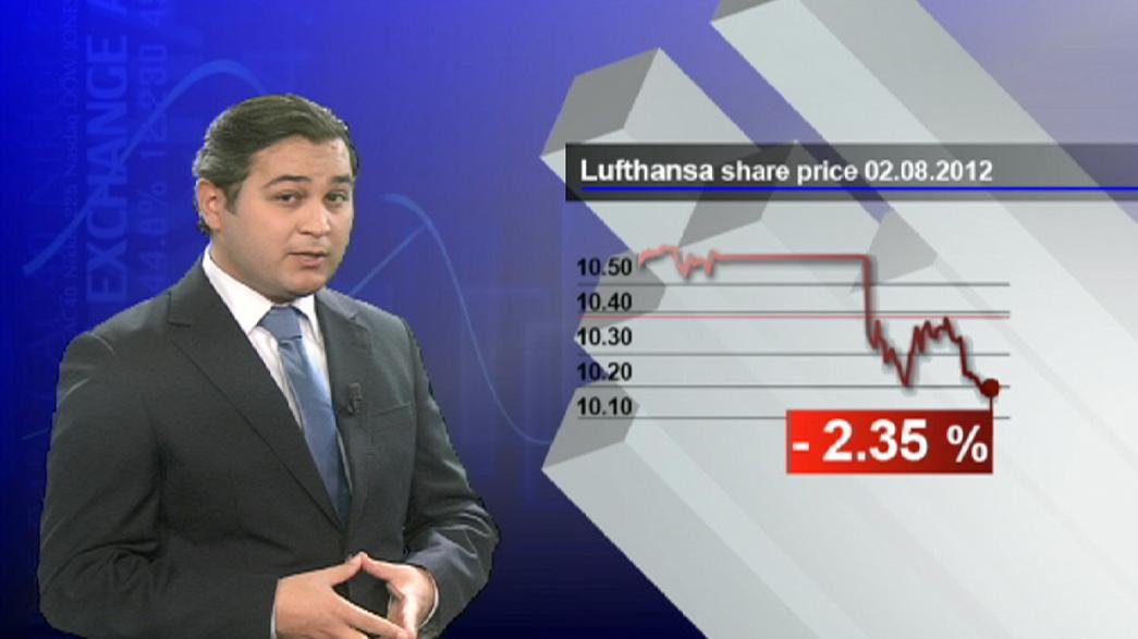 Lufthansa fliegt von Grün nach Rot