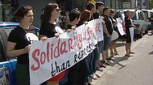 Protests for Belarusian rights activist