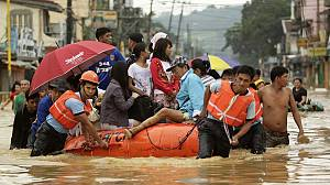 Philippines rushes aid as more rains pound Manila