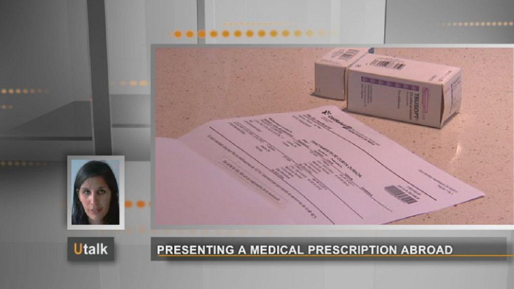 Présenter une prescription médicale à l'étranger