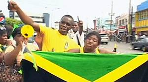 Jamaica celebrates three Olympic 200 metre medals