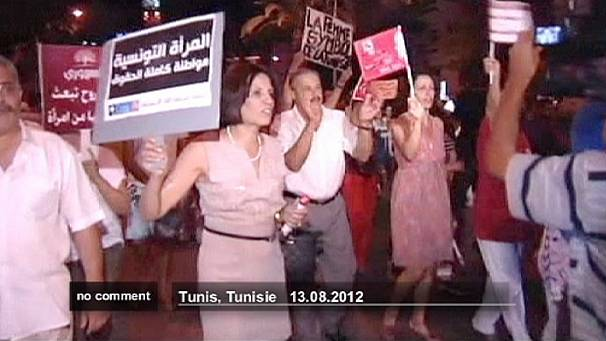 Rally in Tunisia for women's rights