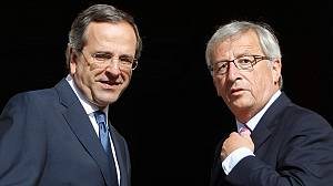 Juncker says Greek bailout extension depends on troika review