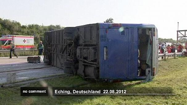 Children hurt in German crash