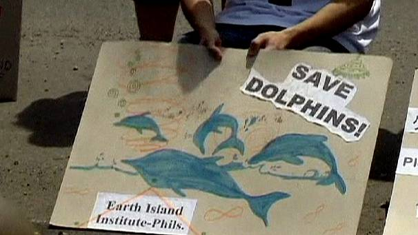 Manila protest against dolphin hunting