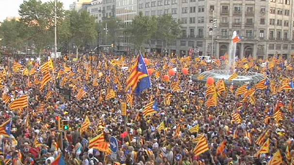 Catalonia 'National Day' protest in Barcelona