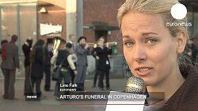 Arturo's funeral in Copenhagen