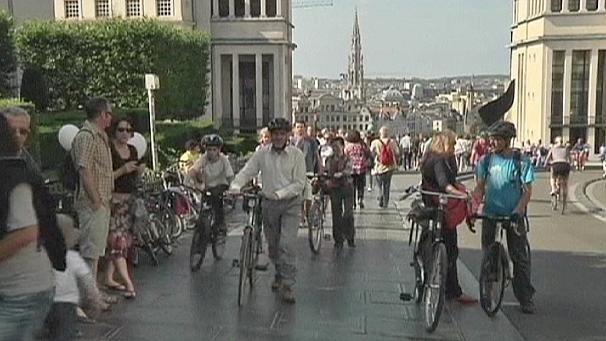 Car-free day in Brussels
