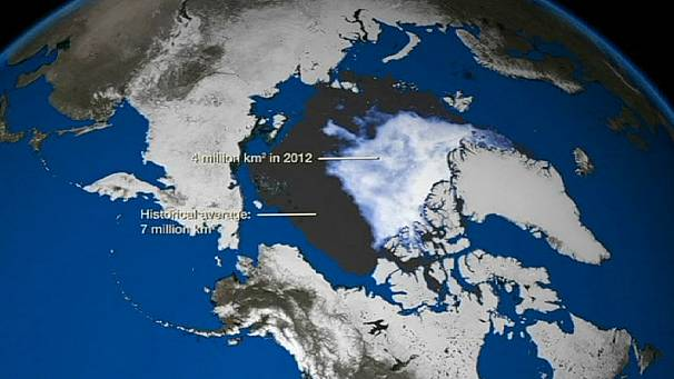 Dramatic images show Arctic Ocean ice melt