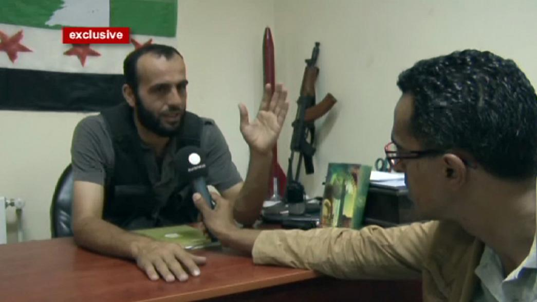 euronews en el cuartel general de los rebeldes en Alepo
