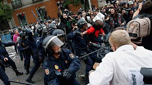 Austerity anger leads to violent clashes in Spain