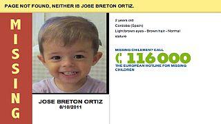 Missing children images on website error pages