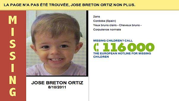 Images d'enfants disparus sur les pages d'erreur internet