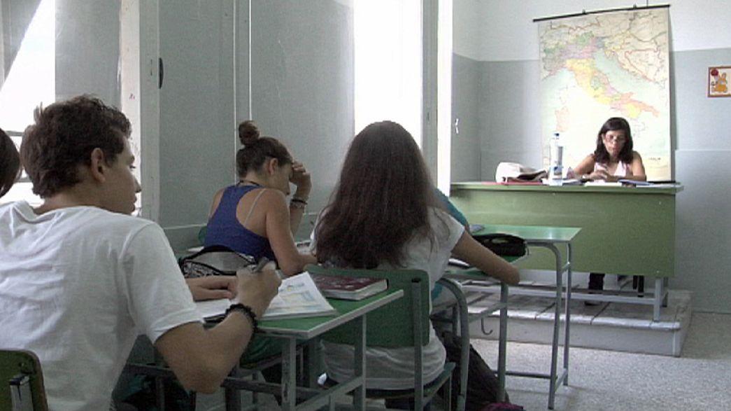Die europäische Krise lähmt die Bildung
