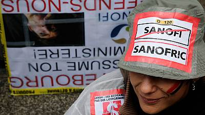 Sanofi workers rally against planned job cuts