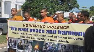 Buddhists protests against attacks in Sri Lanka